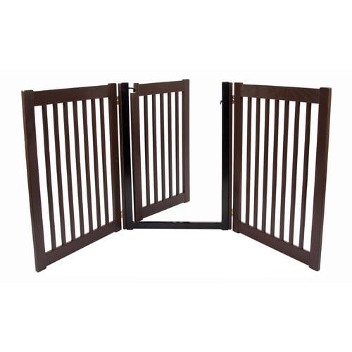Dynamic Accents 32 in. Walk-Through 3 Panel Free Standing Gate - Artisan Bronze
