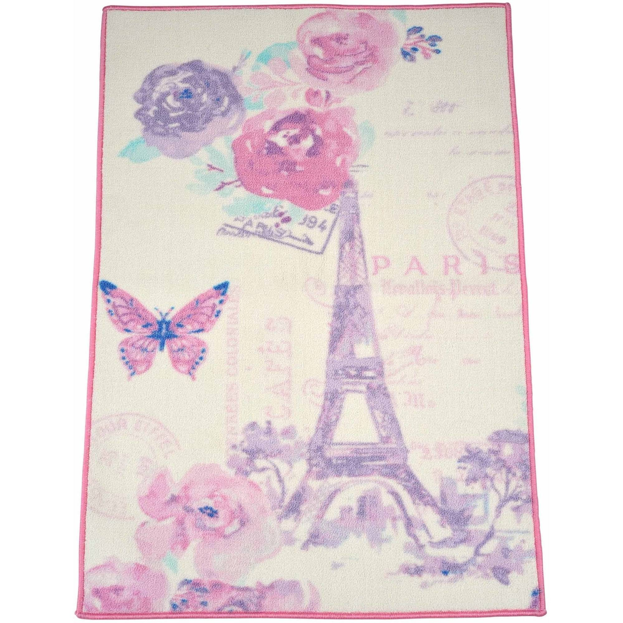 "Mainstays Kids Paris Lavender Rug,30"" x 46"""
