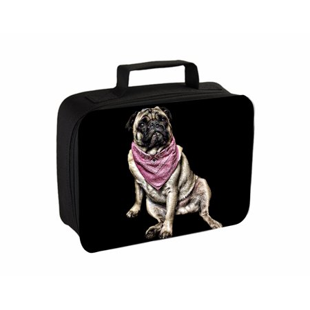 (Pug In A Bandana Jacks Outlet TM Travel Toiletry Bag with Hanger)