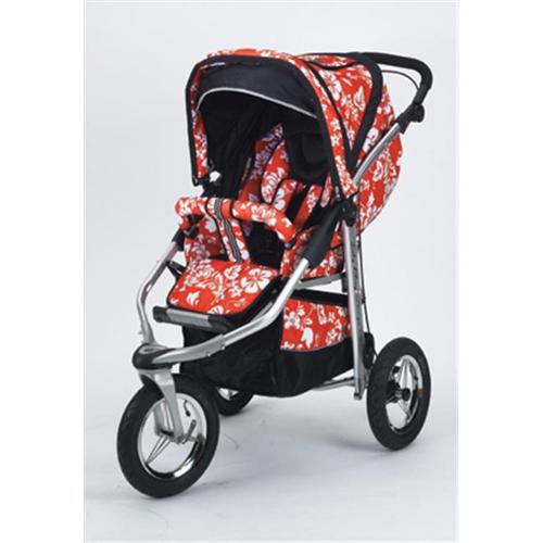Baby Bling Design Company BBMR333P Metamorphosis All Terrain Jogging Stroller in Mariposa Red