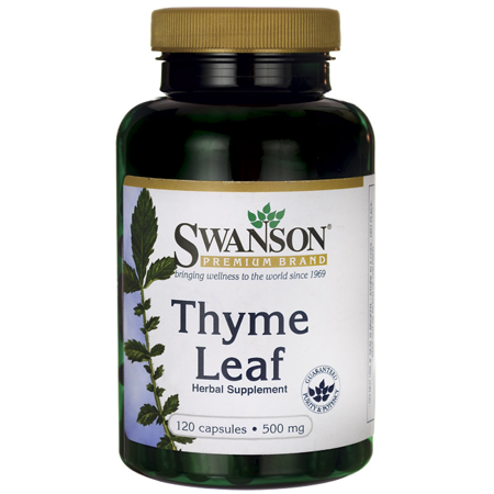 Leaf 1000 Mg 500 Tabs - Swanson Thyme Leaf 500 mg 120 Caps