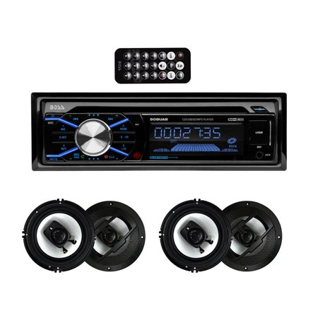 Boss 508UAB In Dash Bluetooth CD Player Receiver with R63 6.5