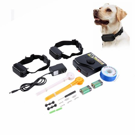 (New Underground Electric Dog Fence Fencing System 2 Shock Collar Waterproof)
