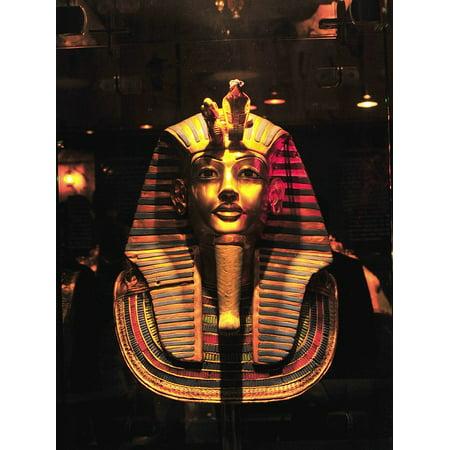 Peel-n-Stick Poster of Pharaoh Egypt Mask Funeral Mummy Old Egyptian Poster 24x16 Adhesive Sticker Poster - Egyptian Pharo