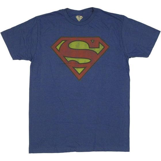 a17d522f8 Superman - Bioworld Men's Superman Logo Tee, Royal Blue, X-Large -  Walmart.com