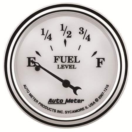 Autometer 1216 Old Tyme White Ii Fuel Level Gauge