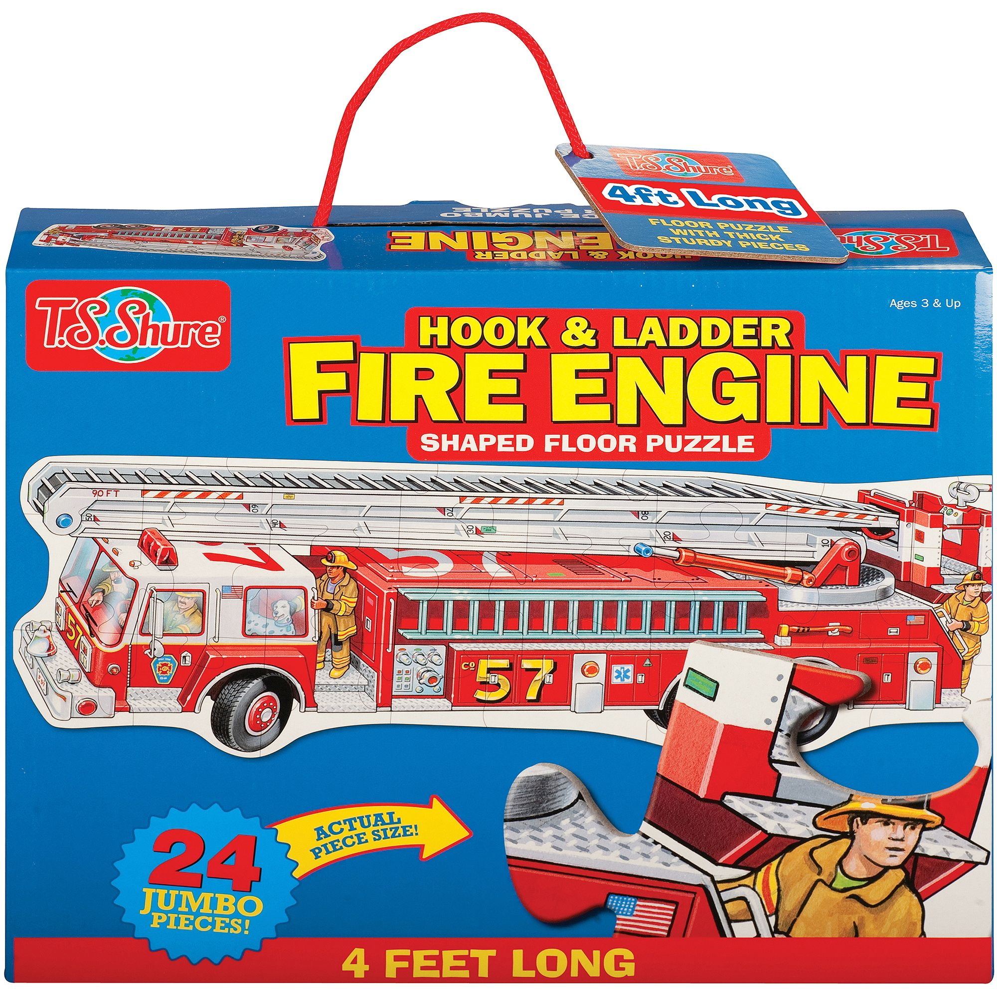T.S. Shure Fire Engine Shaped Jumbo Floor Puzzle by TS Shure