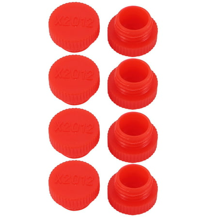 - 8Pcs M12 x 1.5mm PE External Threaded Tube Insert Cap Screw-in Cover Red