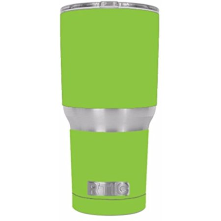 Skin Decal Vinyl Wrap for RTIC 30 oz. Tumbler Stickers skins Cover / Lime Green