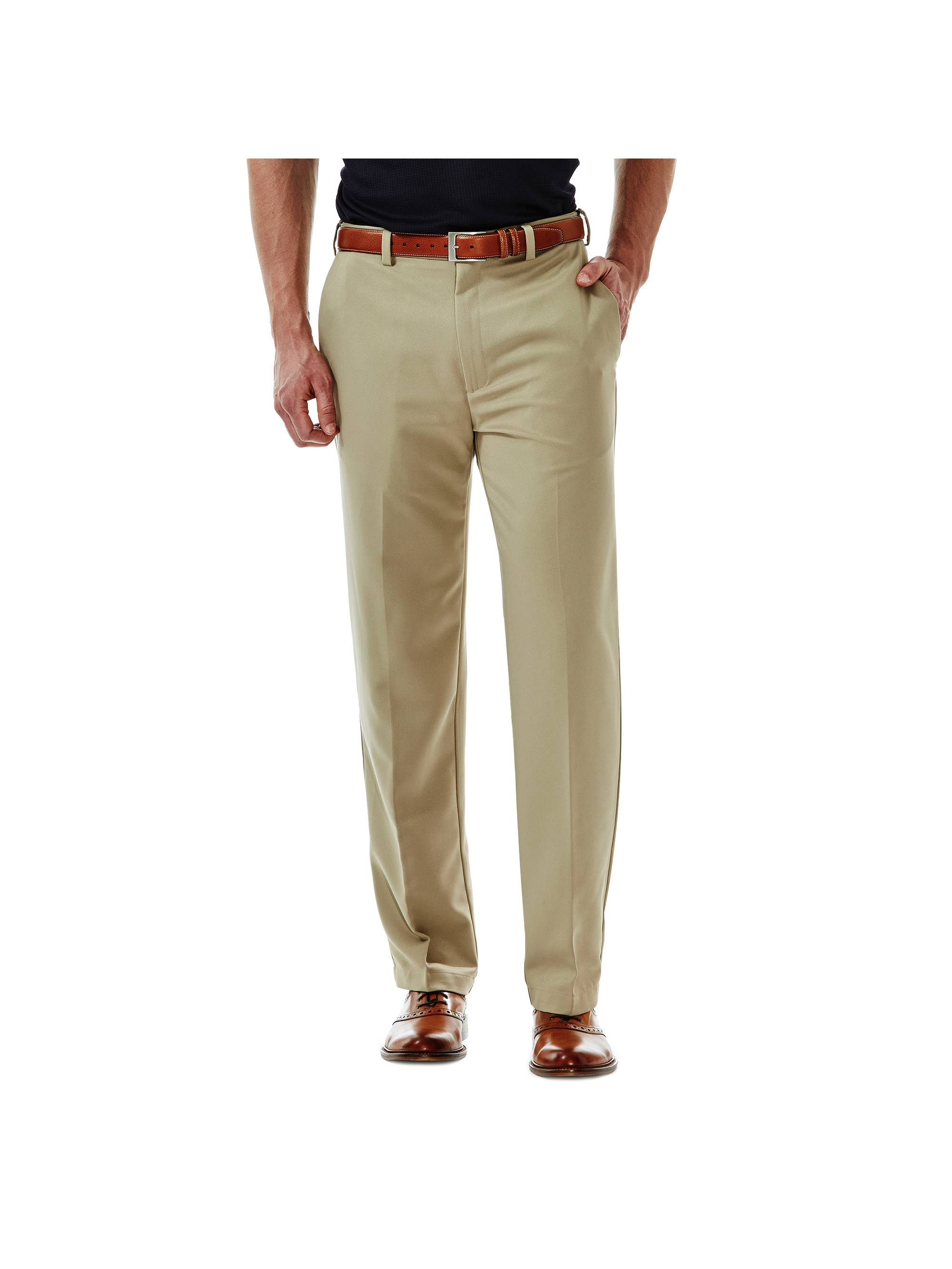 Haggar Men's Cool 18® Solid Flat Front Pant Classic Fit 41114529498