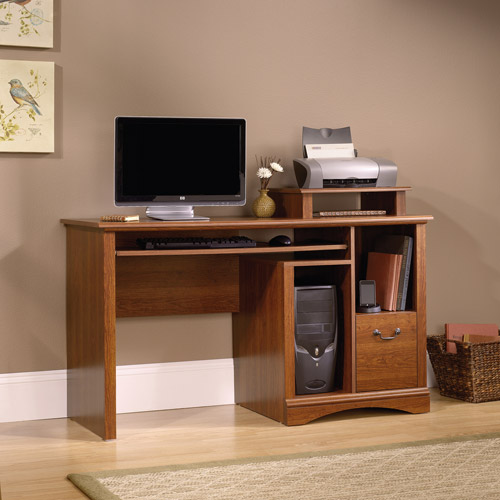 Sauder Camden County Computer Desk, Planked Cherry