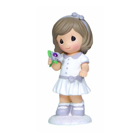Precious Moments February Girl with Flower - Flower Girl Figurine