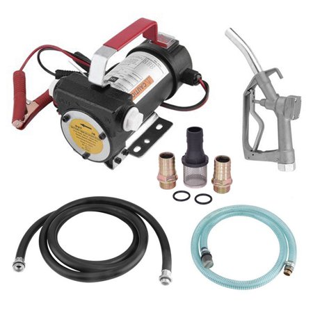 12v Fuel Transfer Pump - Zimtown 12V Electric Diesel Oil And Fuel Transfer Extractor Pump Kit with Nozzle & Hose, 10GPM High Flow Rate with Pump Gun for Transfer Bio-diesel and Kerosene