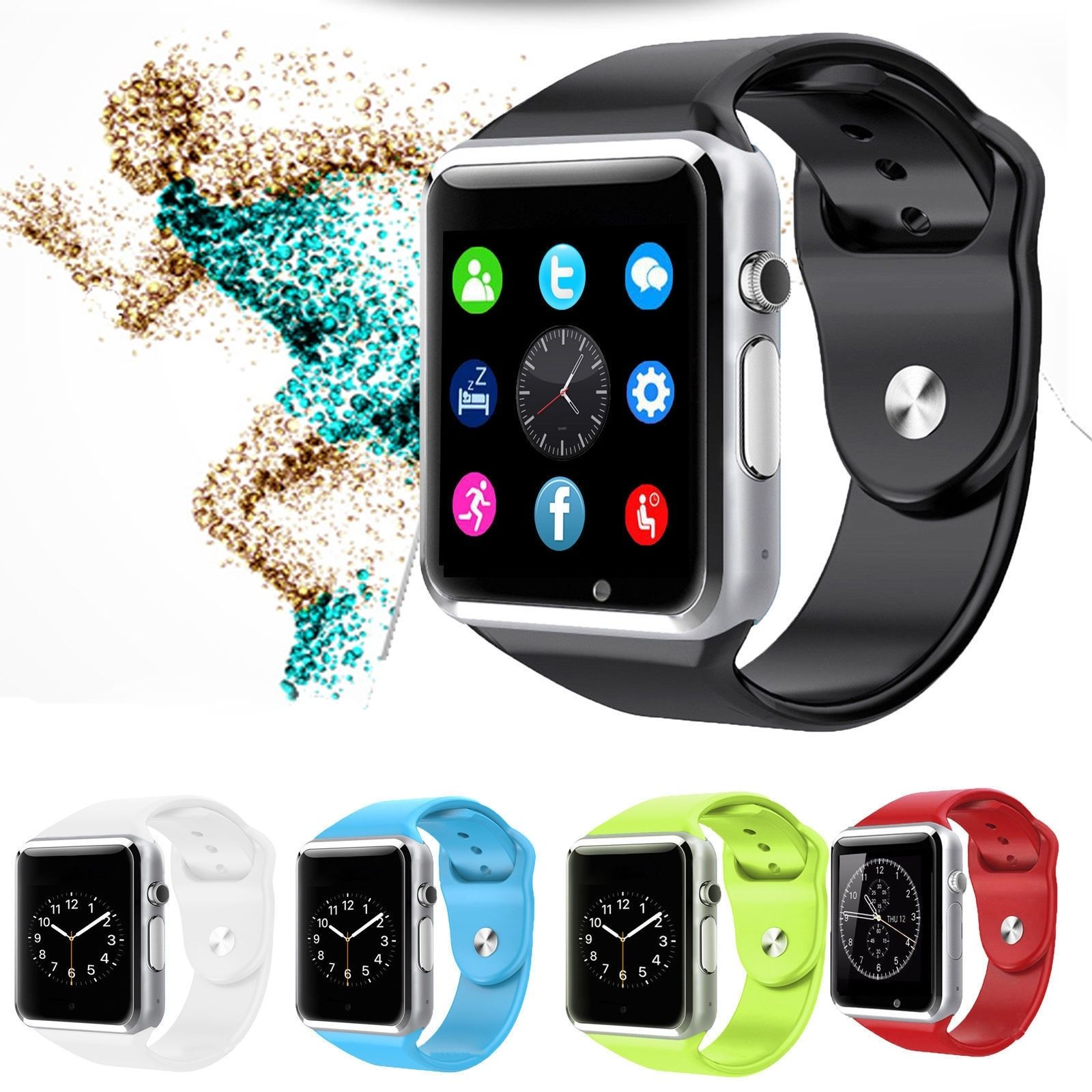Tagital T1 Bluetooth Smart Watch Wrist Watch with Camera For Android IOS Smart Phone Samsung S5 / Note 2 / 3 / 4, Nexus 6, HTC, Sony, Huawei and Other Android Smart Phones