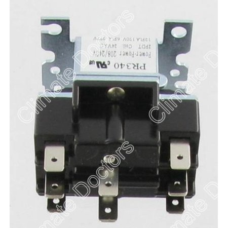 PR340 DPDT 24 Volt Coil Switching Relay, Used on heat pumps, vending machines, fans, and heating and air conditioning By Packard ()