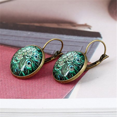 AIHOME Paired Exquisite and Retro Time Jewel Earrings Fashion Multiple Patterns Earrings - image 4 de 6