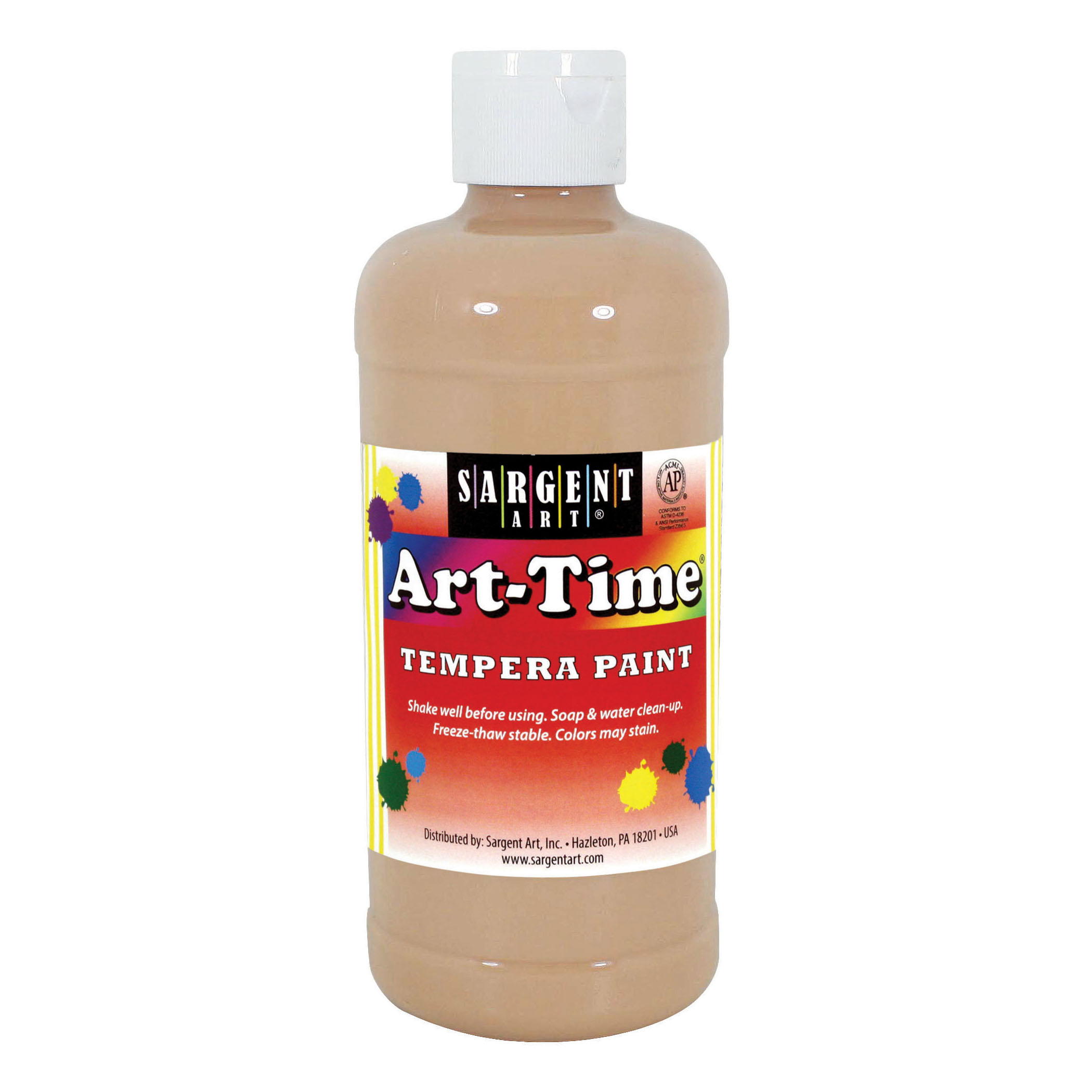 Art-Time® Tempera Paint, Peach - 16 oz., 12/pkg