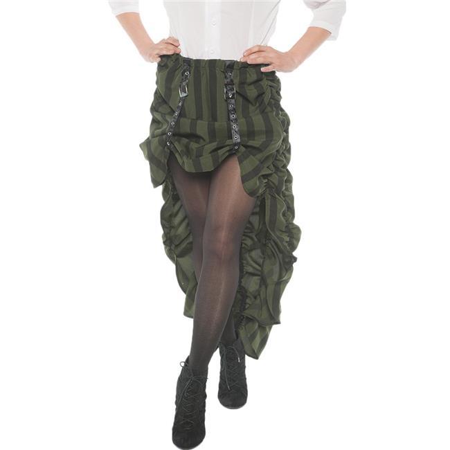 Underwraps UR28245SM Adjustable Steam Punk Skirt, Green - Size 4-6 Small - image 1 de 1