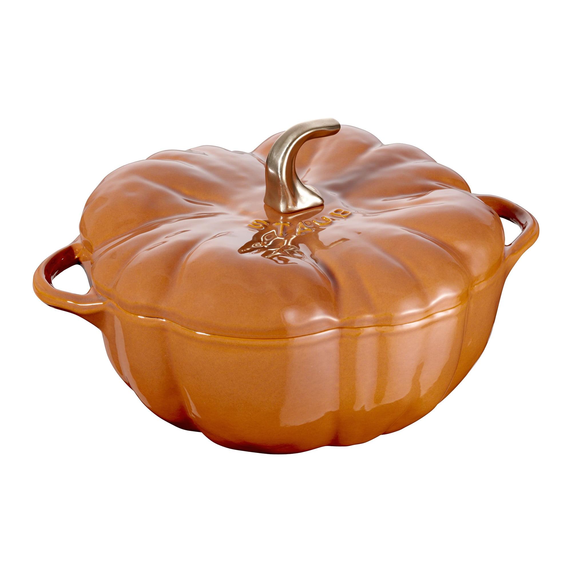 Staub Cast Iron 5-qt Pumpkin Cocotte - Burnt Orange