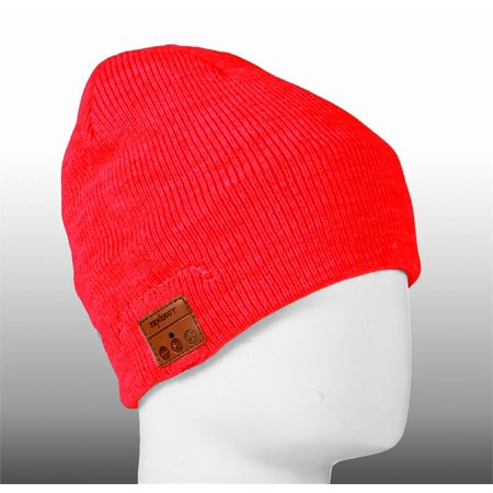 Tenergy Wireless Hands-Free Bluetooth Beanie with Built-in Headset Basic  Knit - Red - Walmart.com 8bff8b2c135a