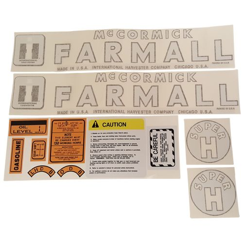 DECAL SET For Case/International Harvester Super H