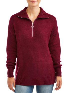 Jason Maxwell Women's 1/4 Zip Pullover Sweater