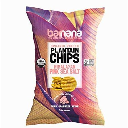 Barnana Organic Plantain Chips - Himalayan Pink Salt - 5 Ounce - Barnana Salty, Crunchy, Thick Sliced Snack - Best Chip For Your Everyday Life - Cooked in Premium Coconut Oil 1