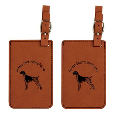 German Shorthaired Pointer Standing Luggage Tag 2pk by Gulf Coast Laser Graphics L3331 Pointer Luggage Tag
