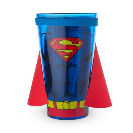 Superman Full Body Caped Pint Glass - 16 oz
