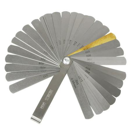 TSV 32 Blade Feeler Gauge Dual Reading Combination Feeler Gauge for Metric & (Cut Standard Saw Blades)
