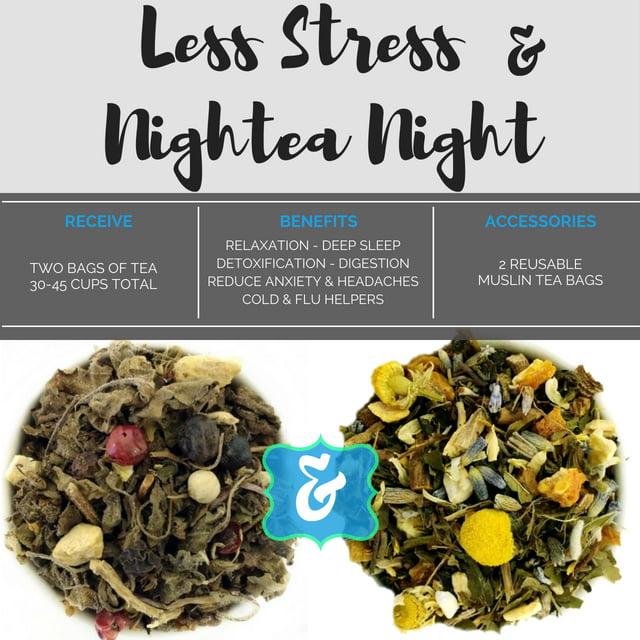 "BlendBee ""Relaxation Tea"" Box, Herbal, 3 Oz, 2 Loose-Leaf Bags"