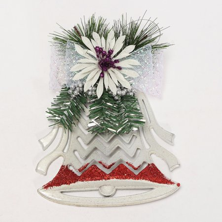 Christmas Xmas Tree Ornaments Decor Plastic White Hollow Flat Bell Pendant New - image 5 of 5