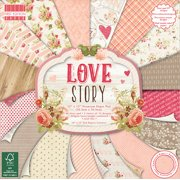 "First Edition Premium Paper Pad, 12"" x 12"", 48pk, Love Story"