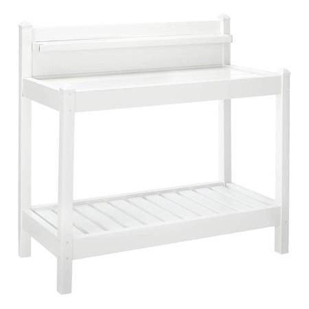 Dura Trel Greenfield Vinyl Potting Bench White Walmart Com