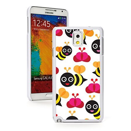 Bumble Bee Pattern (Samsung Galaxy Note 3 Hard Back Case Cover Cartoon Happy Bumble Bees Pattern)
