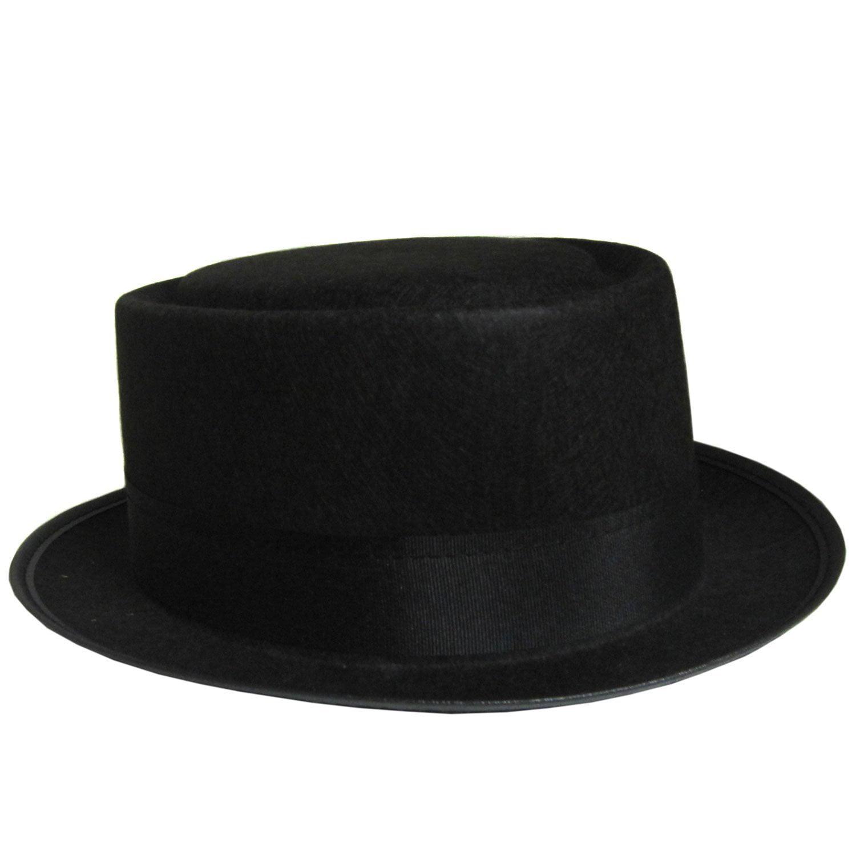 Walter White Black Pork Pie Hat Heisenberg Costume Breaking Bad ... e84f74fb646