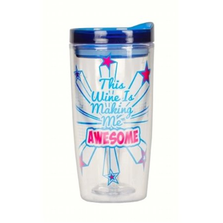 815a80506bc Zees Creations ZEEAC1110 This Wine is Making Me Awesome Insulated Wine  Tumblers, 10 oz