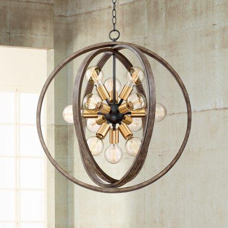 Optic Oval Chandelier (Possini Euro Design Stedman 25
