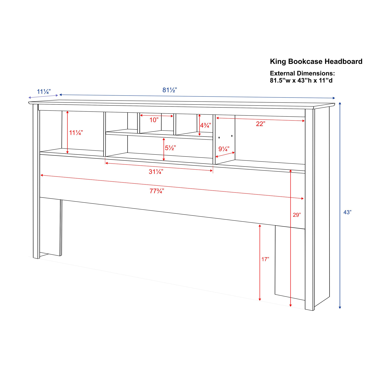 Prepac Edenvale Queen Platform Storage Bed With Headboard Espresso Walmart Com