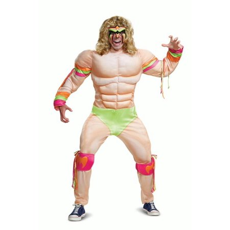Ultimate Warrior Muscle Adult Costume - Halloween Ultimate