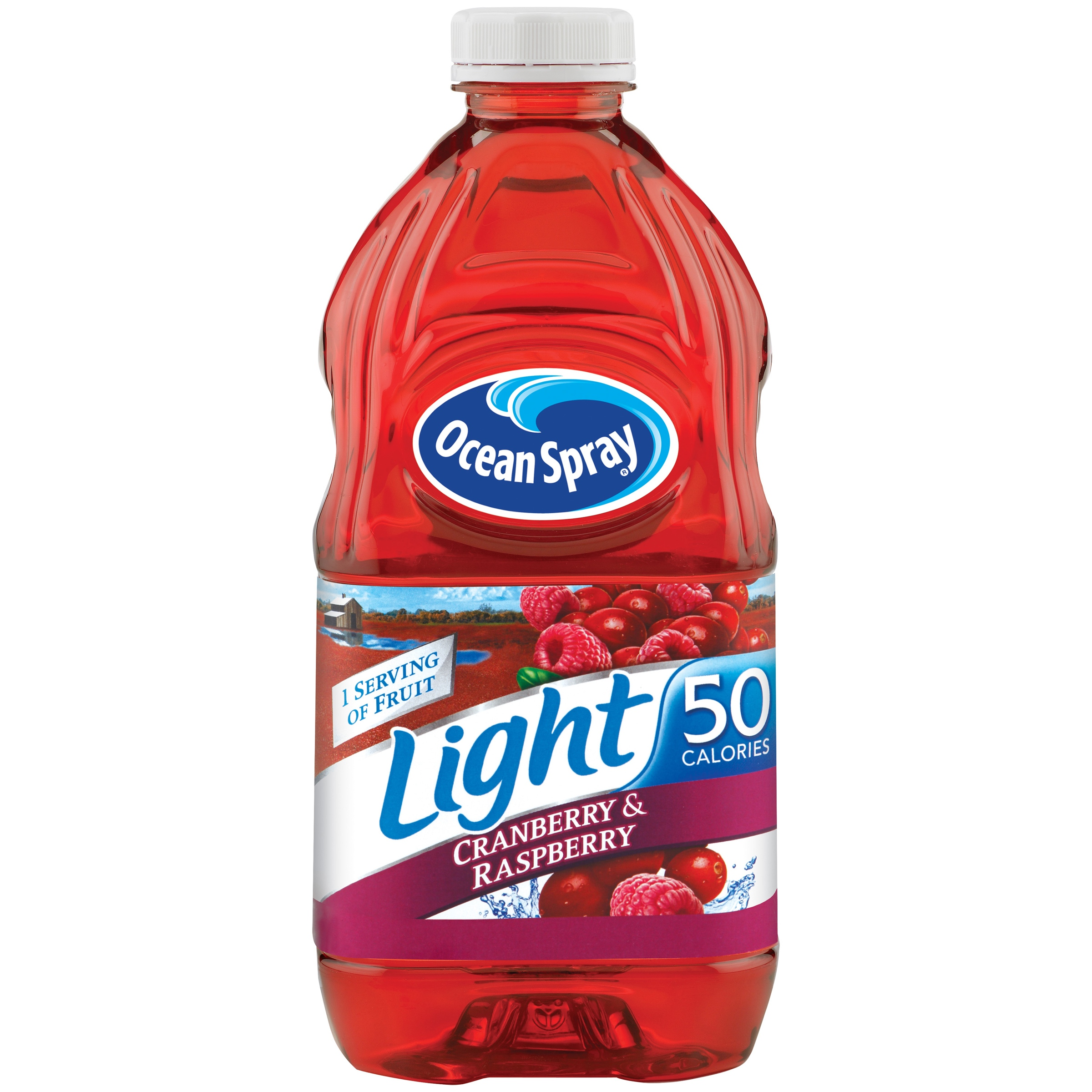 Ocean Spray Light Cranberry and Raspberry Juice Drink, 64 Oz. Bottle