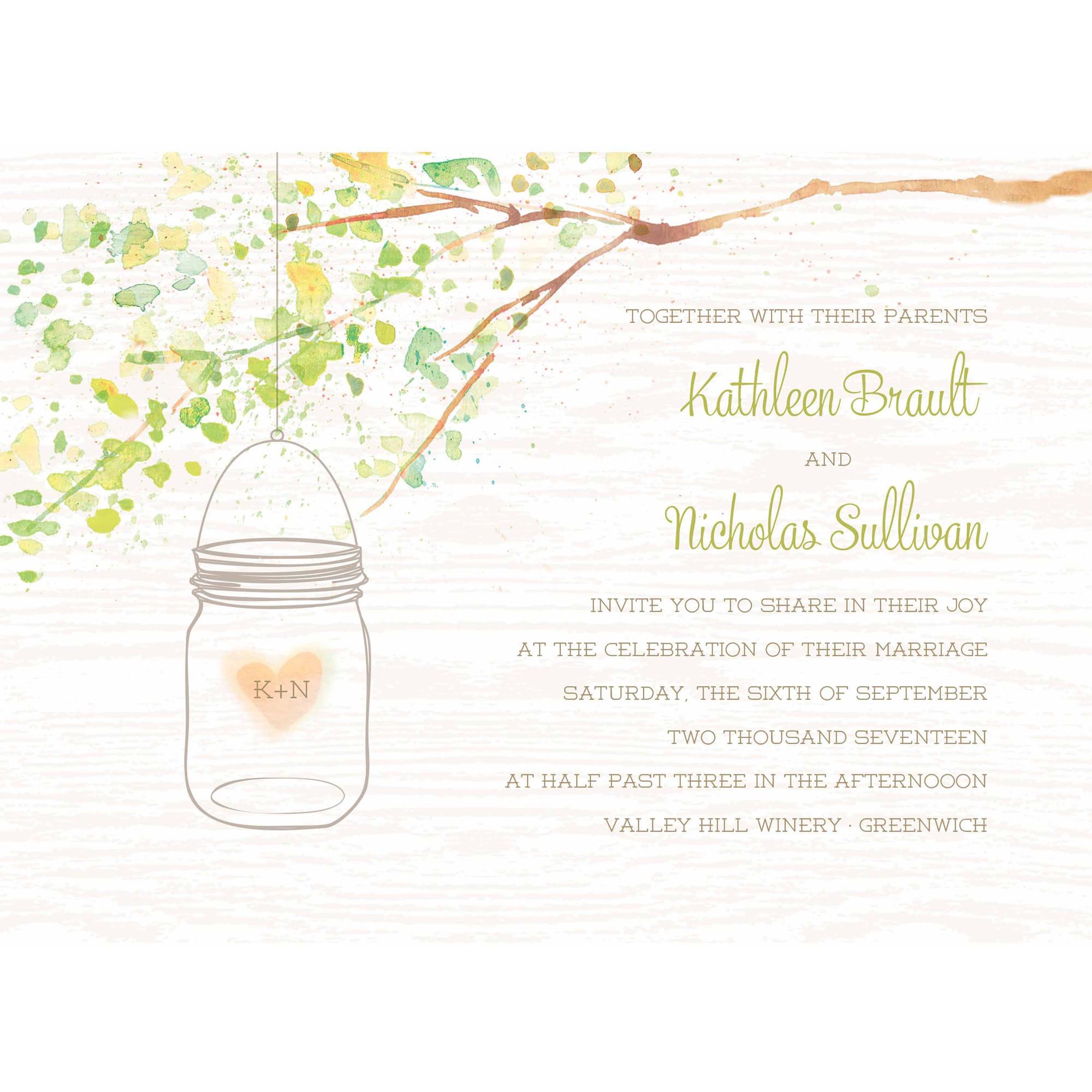 Jar of Love Standard Wedding Invitation