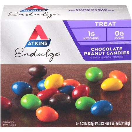 Image of Atkins Endulge Treat, Chocolate Peanut Candies, Keto Friendly, 5 Count