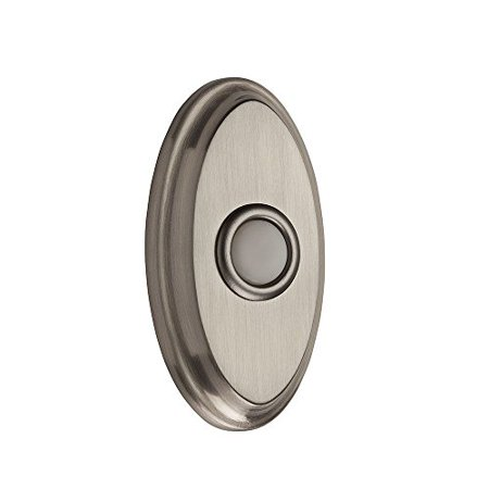 Wired Oval Bell Button - Satin (Nickel Bell Button)