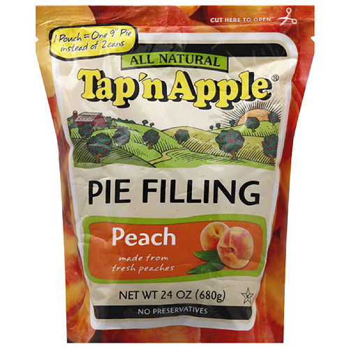 Tap 'n Apple All Natural Peach Pie Filling, 24 oz, (Pack of 6)