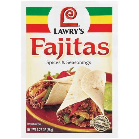 Dried Spices (Dry Seasoning Fajitas Lawry's Spices & Seasonings 1.27 Oz Packet (Pack of)