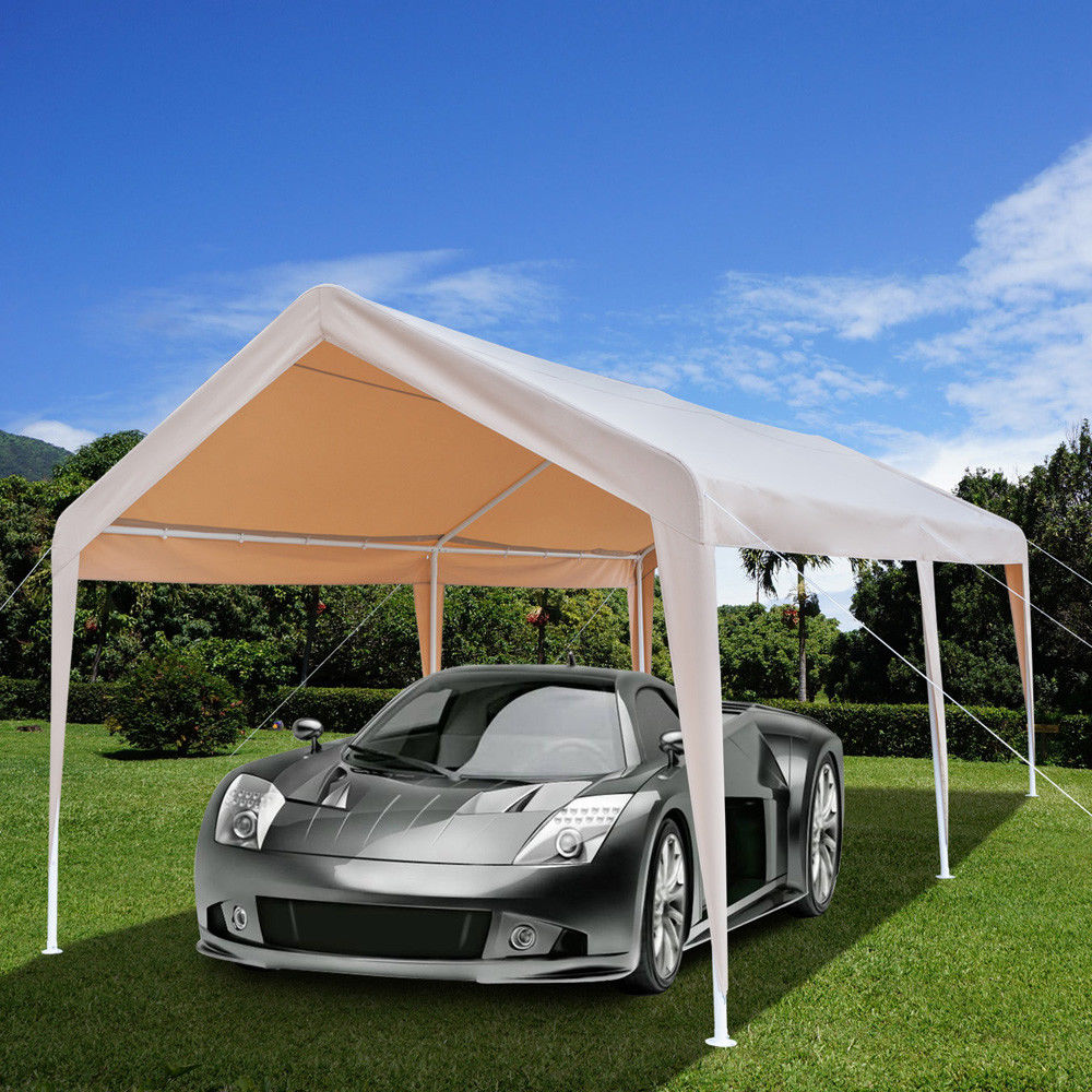 UBesGoo 10'x20' Car Carport Waterproof Canopy Steel ...