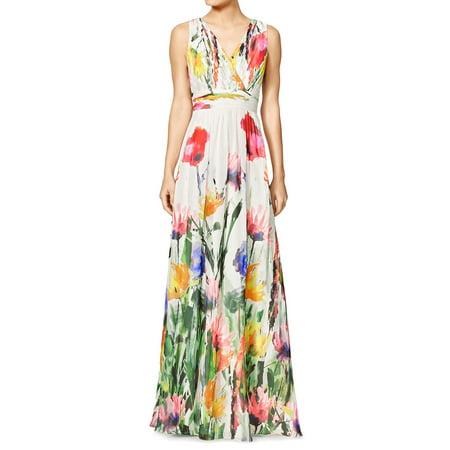 af5fc77cef6 Unique Bargains - Woman Sleeveless Crossover V Neck Floral Print ...