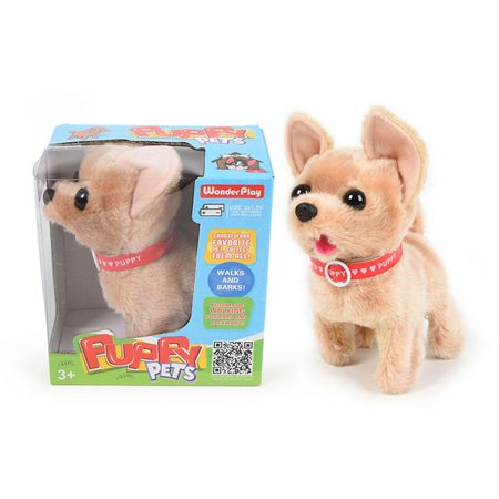Little Stuffed Animals (Cute Somersault Little Puppy - Barks, Sits, Walk, Tail-Wagging . Automatic Walking Forward And Backward ,PIush Animal)