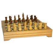 Sheesham Pro Beechwood Chest Chess Set